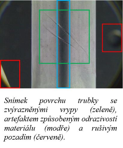snimek povrchu trubky
